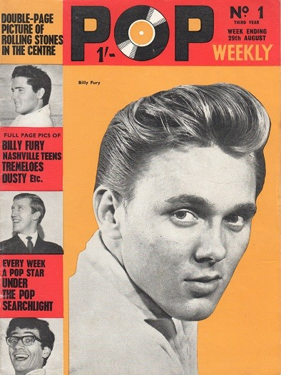 Billy Fury fan mag slider