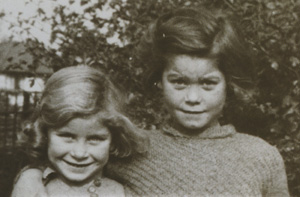 Collins sisters photo as children