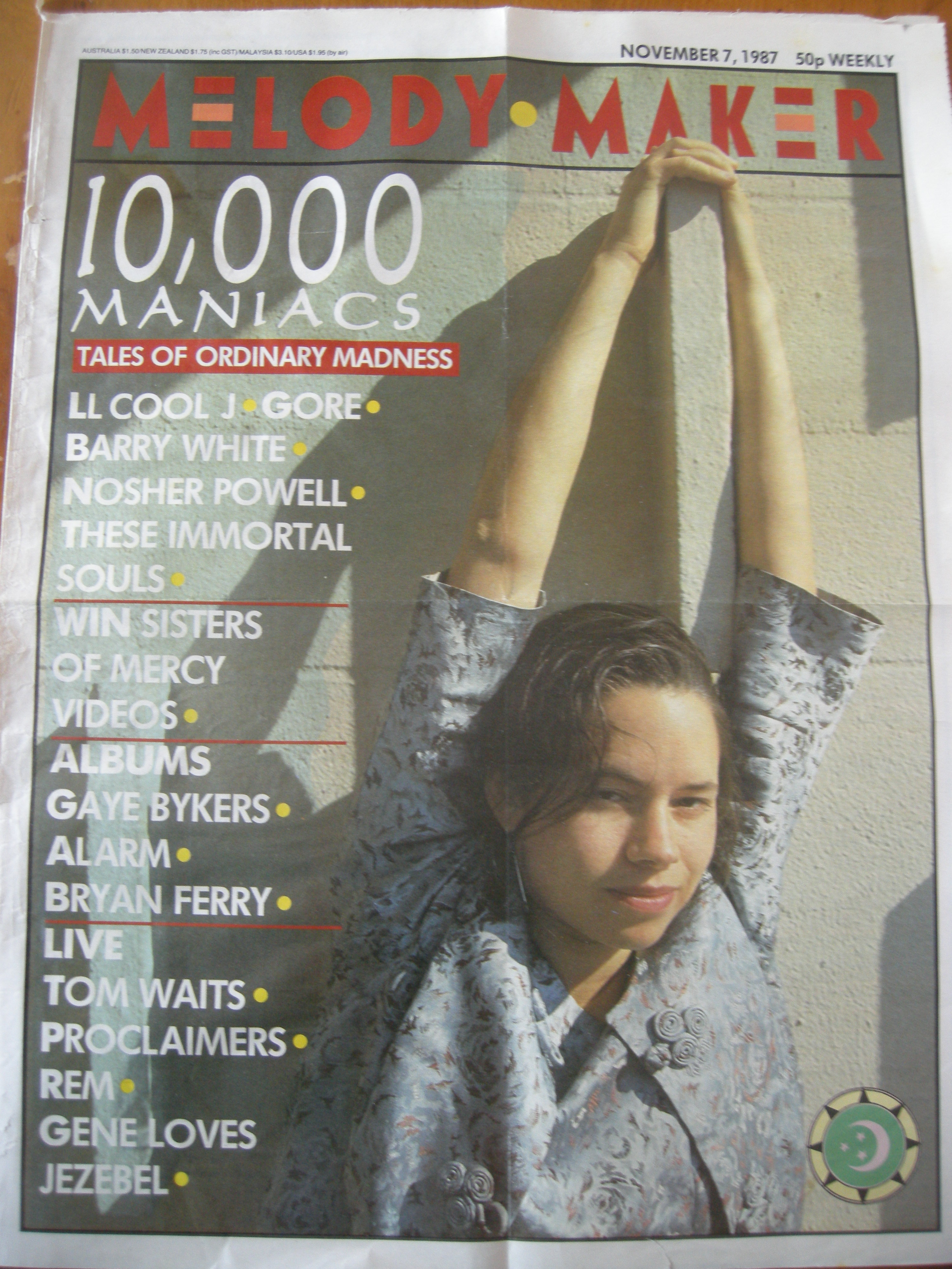 10,000 Maniacs Melody Maker cover