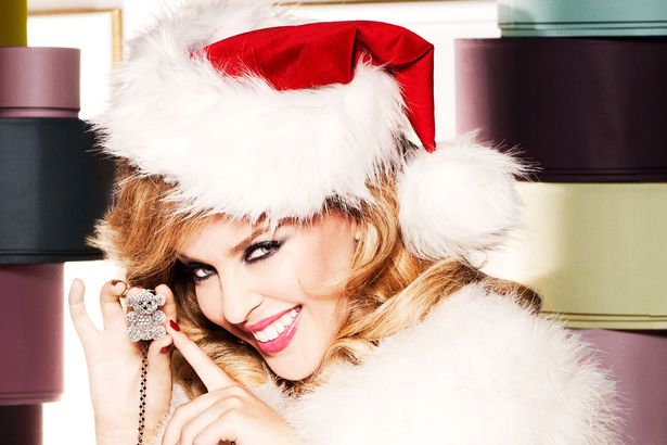 Kylie Minogue Christmas photo