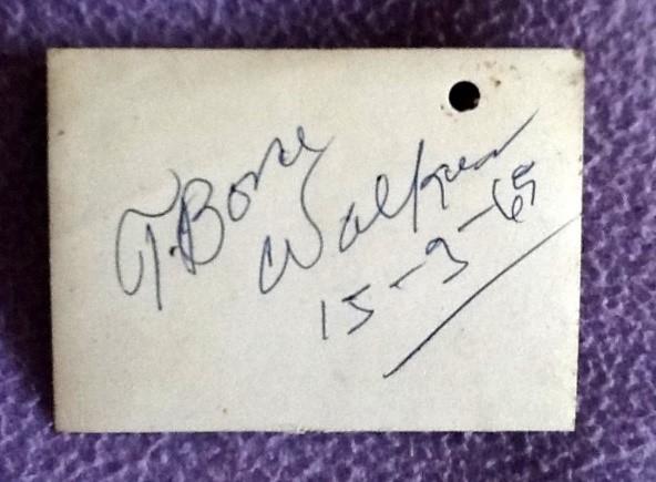T-Bone Walker autograph 2