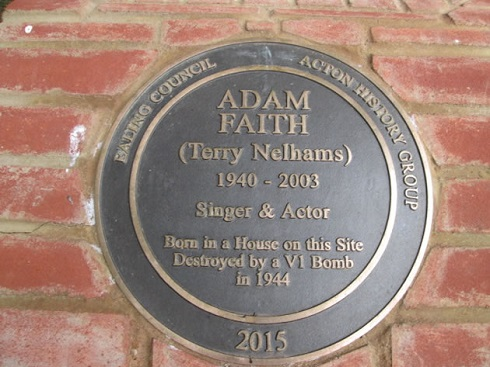 Adam Faith plaque