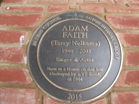 Adam Faith plaque