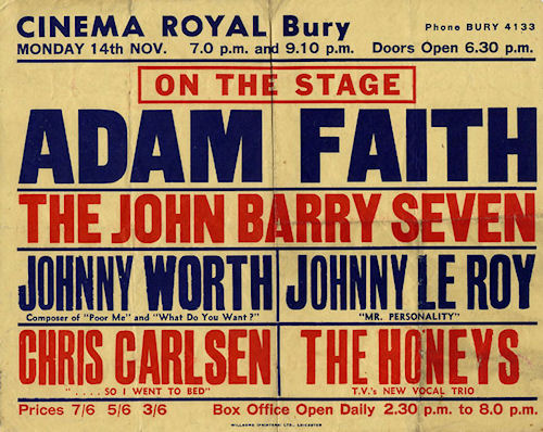 Adam Faith poster