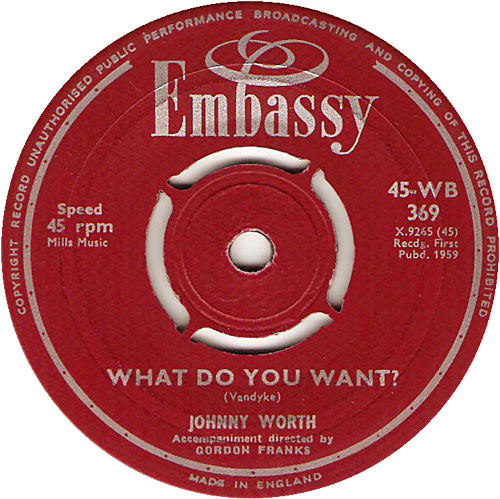 Johnny Worth - What Do You Want