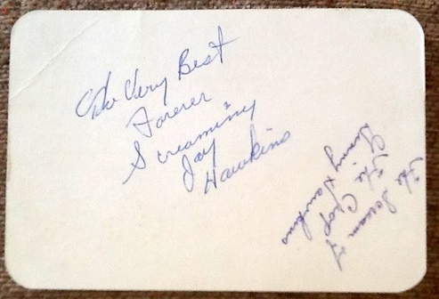 Screamin' Jay Hawkins autograph