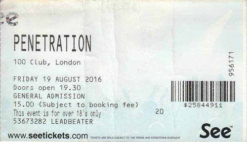 Penetration ticket