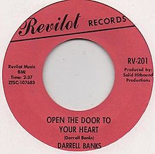 Darrell Banks Open The Door To Your Heart