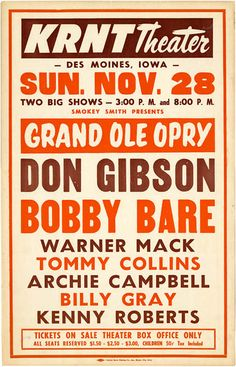 Don Gibson poster