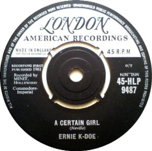 Ernie K-Doe A Certain Girl