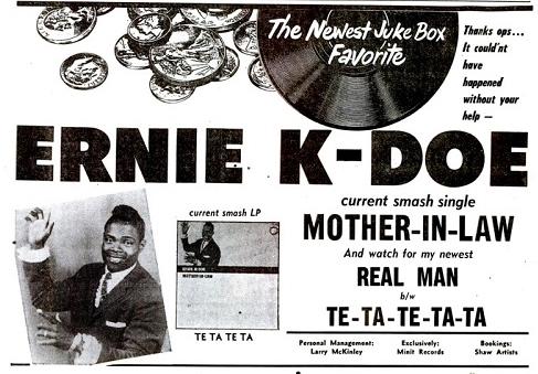 Ernie K-Doe ad