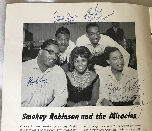 The Miracles autographs