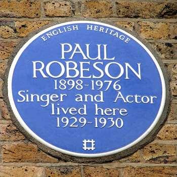 Paul Robeson blue plaque